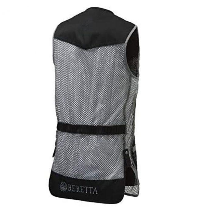 BERETTA DT11 Mesh Shooting Vest Skeet Black And Grey Back