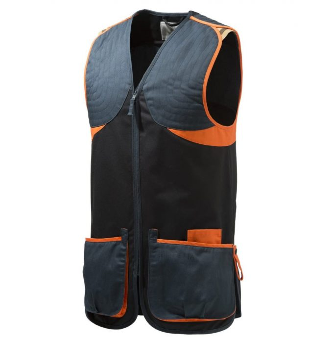BERETTA Full Cotton Shooting Vest Skeet Black & Orange GT681