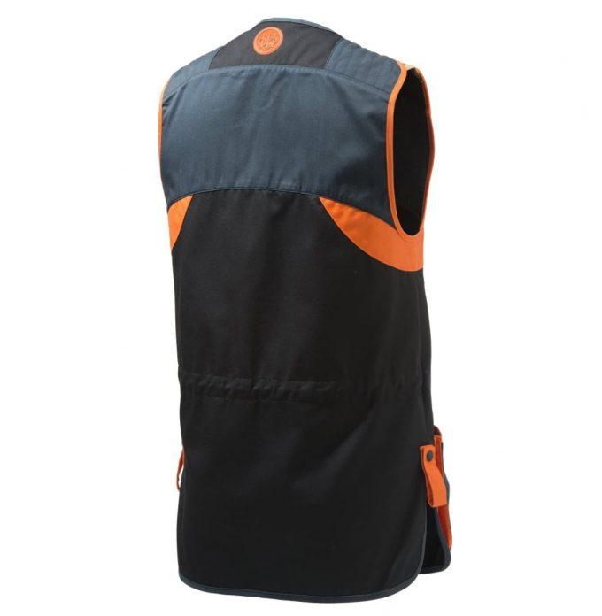 BERETTA Full Cotton Shooting Vest Skeet Black & Orange GT681 Back