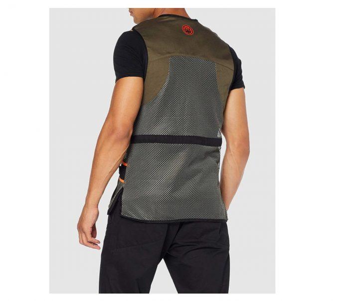 Beretta Men's Full Shooting Vest Green Back