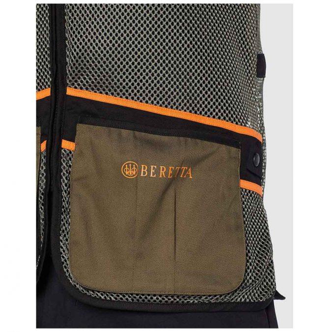 Beretta Men's Full Shooting Vest Green Pocket
