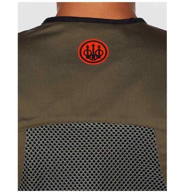 Beretta Men's Full Shooting Vest Green Shoulder