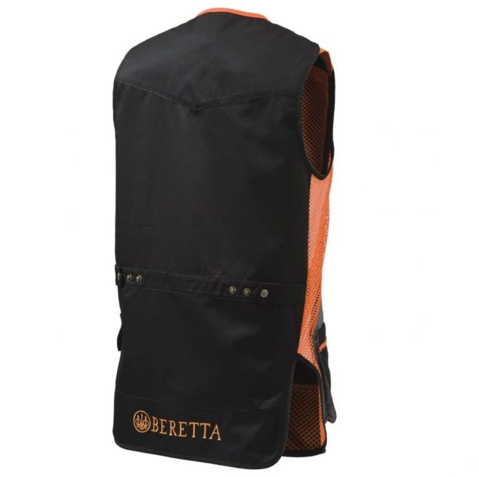 BERETTA Silver Pigeon Shooting Vest Skeet Black And Orange Back