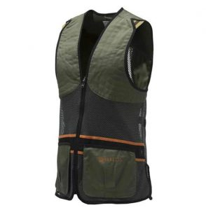 BERETTA Unisex Full Mesh Shooting Skeet Vest Dark Olive Trap Clays GT671T-072A