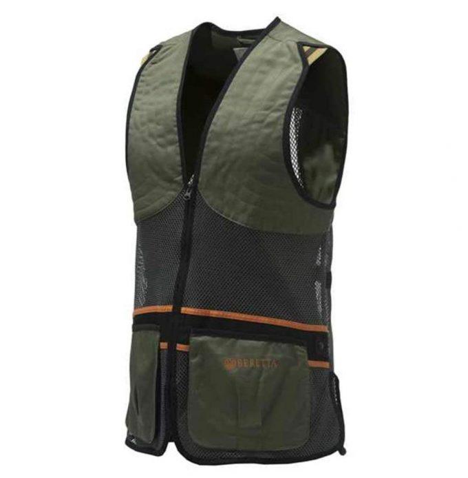 BERETTA Unisex Full Mesh Shooting Skeet Vest Dark Olive Trap Clays GT671T-072A
