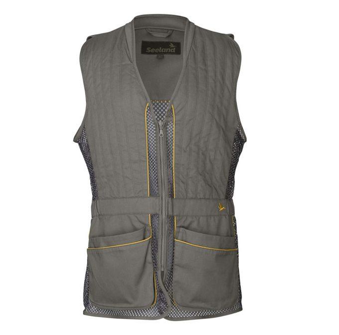 Seeland Lightweight Shooting Vest Grey Front