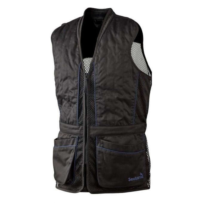 Seeland Men's Skeet Shooting Vest Black Front