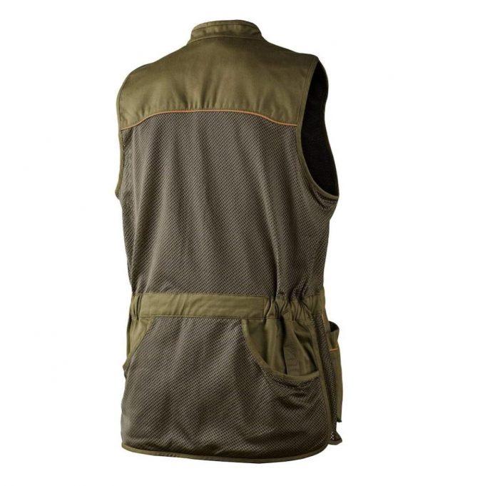 Seeland Men's Skeet Shooting Vest Duffel Green Back